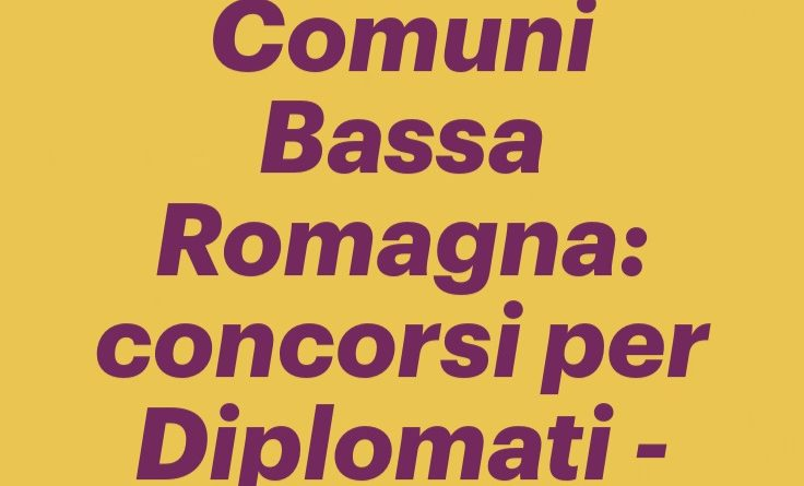 Unione Comuni Bassa Romagna: concorsi per Diplomati